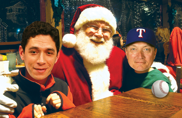 Will Santa be good to Jon Daniels (L) and Jeff Banister (R) this month?