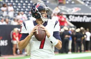 It has been a crazy up-and-down season for Texans QB Brian Hoyer who will start the season finale. Photo Courtesy: Rick Leal