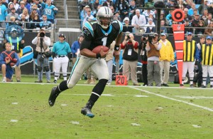 Cam Newton and the Carolina Panthers are a win away from Super Bowl 50. Photo Courtesy: Parker Anderson