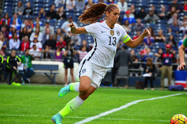 U.S. WNT Alex Morgan got the game going with her record-setting score. Photo Courtesy: Love @ll