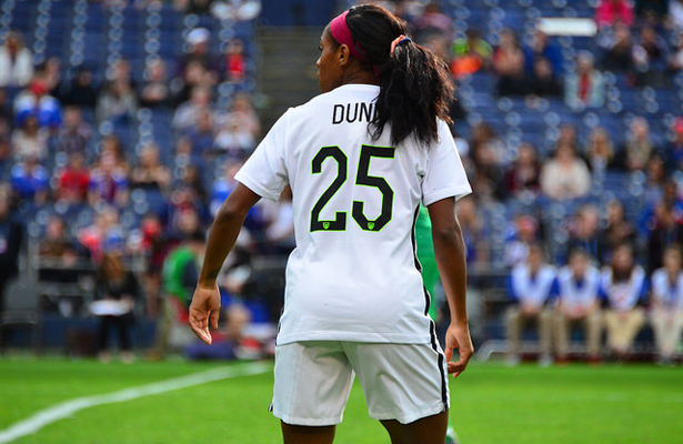Crystal Dunn led Team USA with a total of five goals, which ties her with a record for most goals scored in a match. Photo Courtesy: Love @all