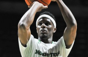 North Texas G Deckie Johnson trying to make the most of his free throw opportunities. Photo Courtesy: Bruce Chandler