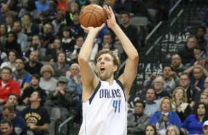 Dirk Nowitzki leads the Dallas Mavericks in ppg this season, but won't be heading to another all-star game. Photo Courtesy: Michael Kolch