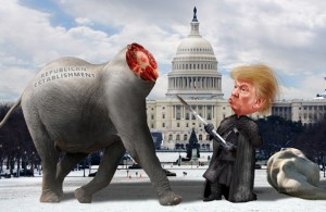 Will Donald Trump end up destroying the Republican Party from the inside? Image Courtesy: DonkeyHotey