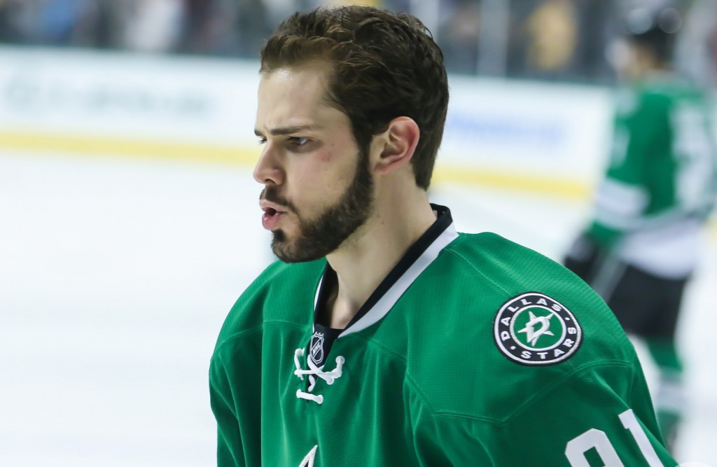 Dallas Stars' Tyler Seguin is questionable against the Nashville Predators after sustaining a cut on his right arm. Photo Courtesy: Annie Devine