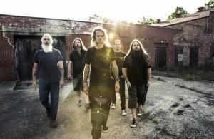 Lamb of God, from left, John Campbell, Chris Adler, Randy Blythe, Willie Adler, Mark Morton. Photo Courtesy: Travis Shin