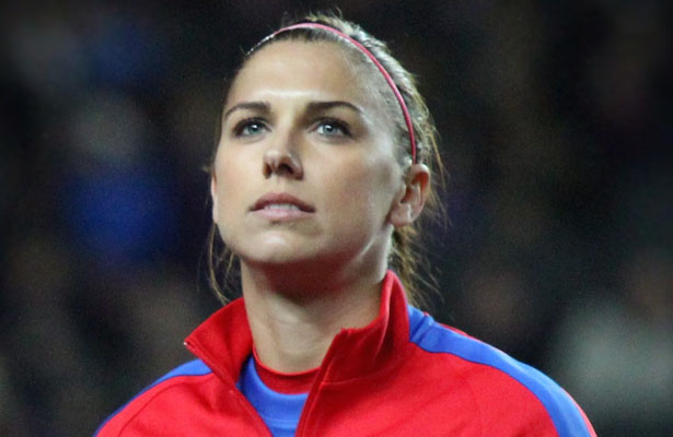 US WNT's Alex Morgan knotted the game up 1-1 against Germany. Photo Courtesy: JoshJdss
