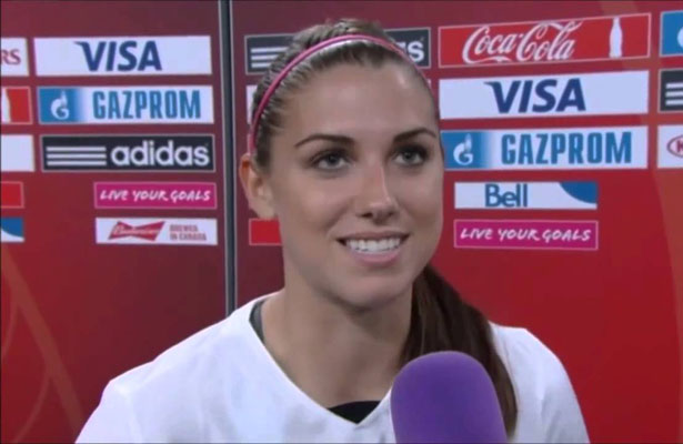 Alex Morgan scored the only goal in the U.S. 1-0 victory over France. Photo Courtesy: YouTube.com