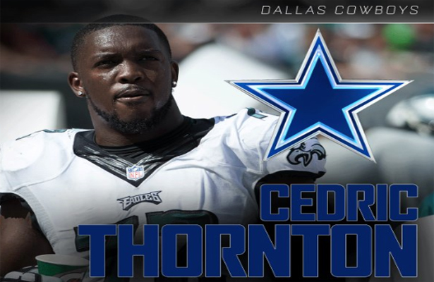 The Dallas Cowboys need all the help they can get along the defensive line and welcome Cedric Thornton with open arms. Photo Courtesy: NFL on ESPN Twitter page