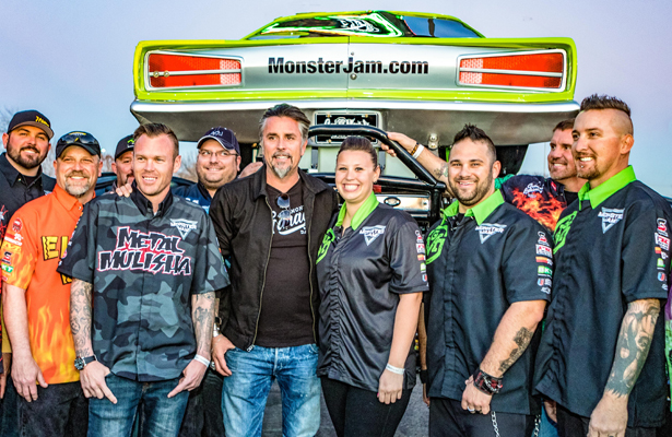 Richard Rawlings (black jacket) surround by his crew. Photo Courtesy: Matt Pearce