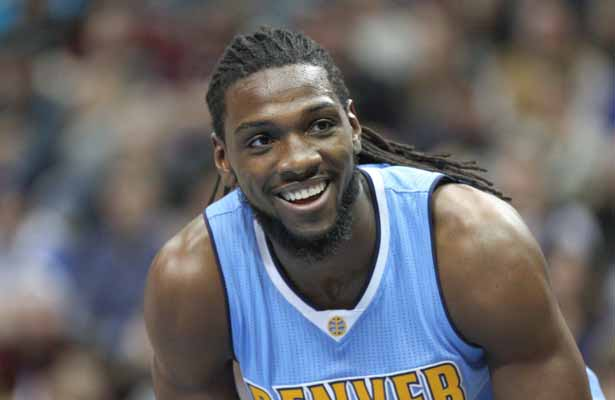Nuggets Center Kenneth Faried is on the bench again with a sore back. Photo Courtesy: Michael Kolch