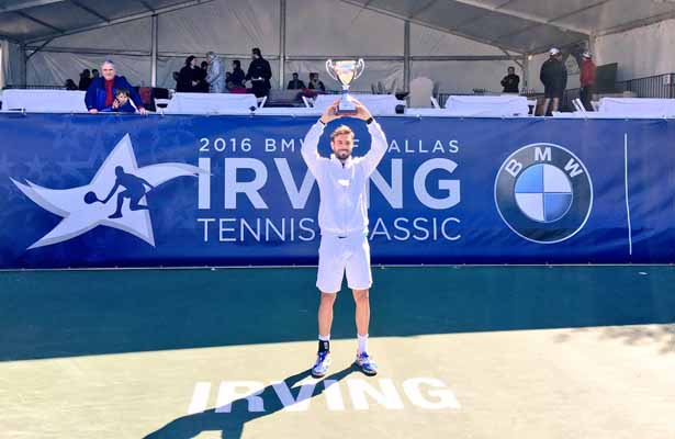 Irving Tennis Classic winner Marcel Granollers looks forward to defending his title next year. Photo Courtesy: Tessa Kolodny