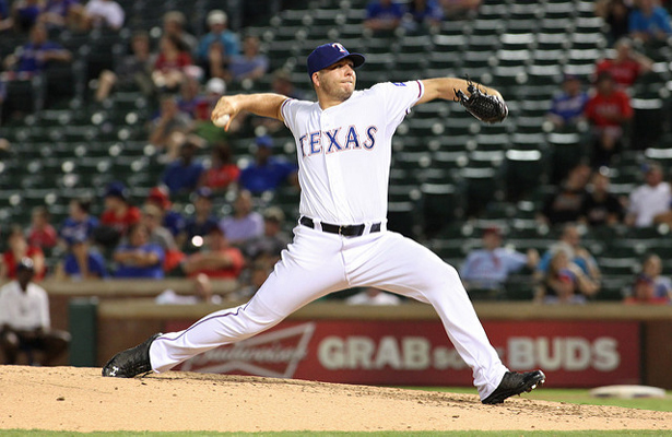 Texas Rangers closer Shawn Tolleson gave up five runs while not recording a single out on Wednesday. Photo Courtesy: Dominic Ceraldi