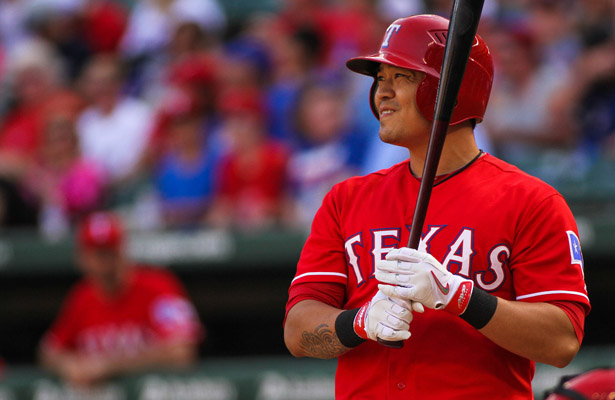 Texas Rangers OF Shin-Soo Choo will be out 4-6 weeks with a calf injury. Photo Courtesy: Darryl Briggs