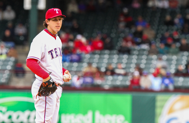 Texas Rangers starter Derek Holland imploded in Game 4 against the Blue Jays. Photo Courtesy: Darryl Briggs