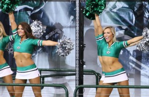 Become an Ice Girl for the Dallas Stars and be a part of the action! Photo Courtesy: Dominic Ceraldi