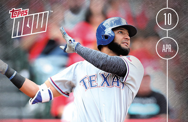 Nomar Mazara has delivered since being called up and his baseball cards are going up in value as well. Photo Courtesy: Henry Jenkins