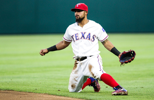 Texas Rangers 2B Rougned Odor took on Blue Jays OF Jose Bautista in a memorable bout on Sunday. Photo Courtesy: Darryl Briggs