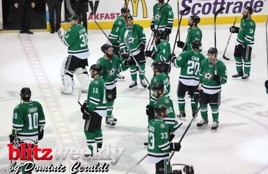 Stars give a solute to the fans after losing in game 7 to the Blues. Photo Courtesy Dominic Ceraldi