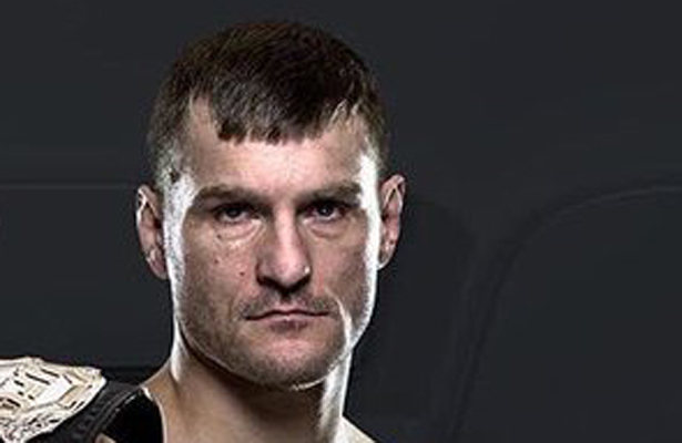 Stipe Miocic holds the title belt and is accepting all challengers.