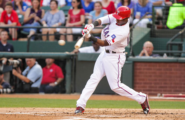 Texas Rangers 2B Jurickson Profar hit a tiebreaking single in a three-run fifth inning and the Texas Rangers beat the Seattle Mariners 3-2 Sunday. Photo Courtesy: Darryl Briggs