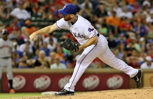 Since being named the Rangers closer, Sam Dyson has been very reliable. Photo Courtesy: Dominic Ceraldi