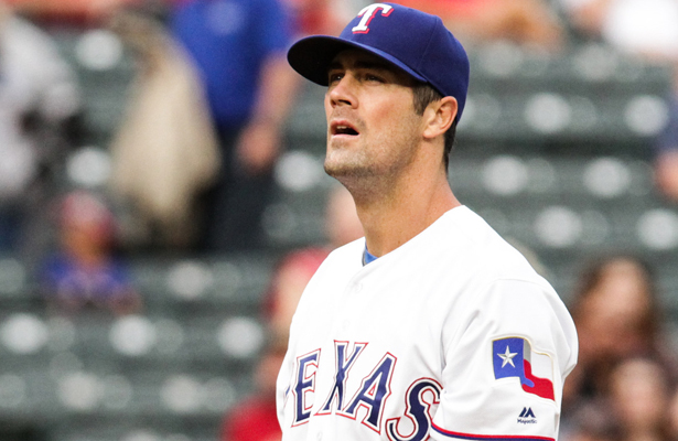 Rangers ace Cole Hamels stopped the bleeding in Game 3 against the Cubs with a brilliant performance. Photo Courtesy: Darryl Briggs