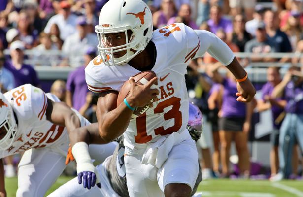 Jerrod Heard will probably be named the starter for the home opener, but he knows that Shane Buechele will be ready as well. Photo Courtesy: Dominic Ceraldi