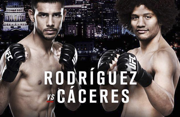 Rodriguez vs. Caceres goes down on Saturday. So who you got!?!