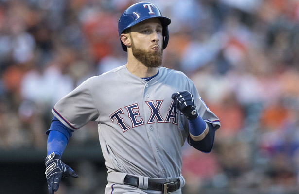 Jonathan Lucroy is making a huge impact with his bat for the Rangers. Photo Courtesy: Keith Allison