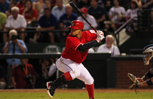 Opposing pitchers beware, Rangers 2B Rougned Odor is heating up at the plate. Photo Courtesy: Darryl Briggs