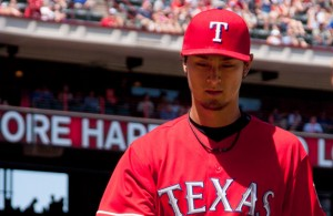 It has been two months since Yu Darvish has won a game despite three consecutive quality starts. Photo Courtesy: Kent Gilley