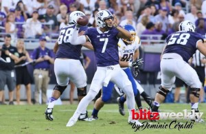 New TCU helmsman Kenny Hill will be tested on Saturday against the Razorbacks. Photo Courtesy: Dominic Ceraldi