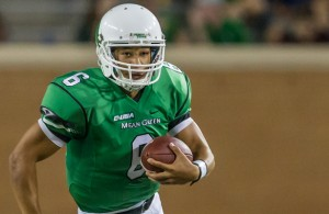 The Mean Green offense is in good hands with QB Mason Fine. Photo Courtesy: Sandy McAnally