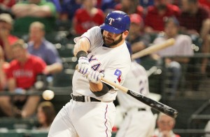 The Texas Rangers really need the bat of 1B Mitch Moreland to come to life in the postseason. Photo Courtesy: Darryl Briggs