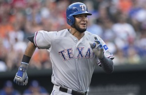 Nomar Mazara has 20 home runs on the season making him the fourth Rangers rookie to do so. Photo Courtesy: Keith Allison