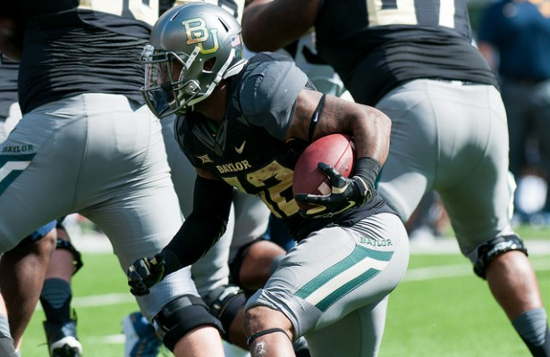 Baylor Bears RB Shock Linwood just needs to run behind his big o-line to find some success on Saturday. Photo Courtesy: Matthew Lynch