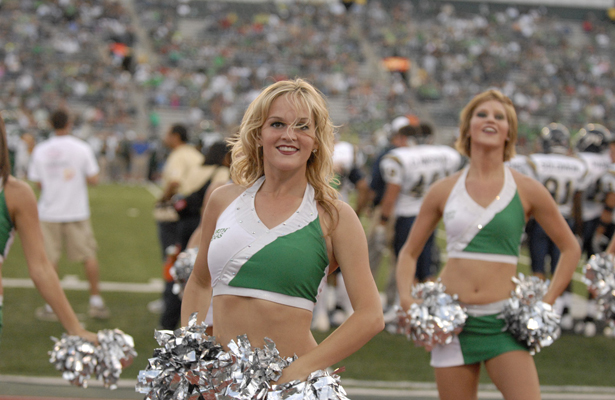 The UNT Cheerleaders should be busy on Saturday with lots to be excited about against the Owls.