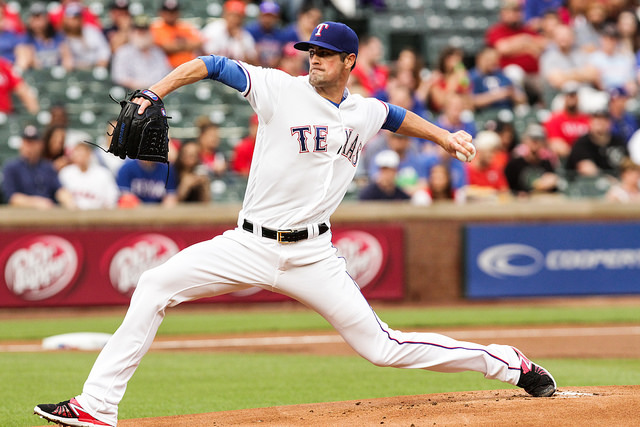 Cole Hamels and the Texas Rangers have some unfinished business to take care of with the Toronto Blue Jays in the ALDS. Photo Courtesy: Darryl Briggs