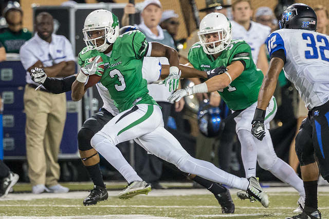 Terian Goree of the Mean Green might be their secret weapon on Saturday. Photo Courtesy: Sandy McAnally