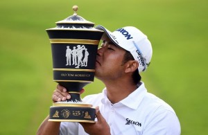 So far this season, Hideki Matsuyama has won $2,376,000. Photo Courtesy: @HSBC_Sport Twitter