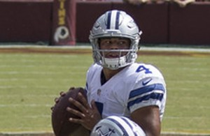 Cowboys QB Dak Prescott will face another tough test against the Ravens on Sunday. Photo Courtesy: Keith Allison