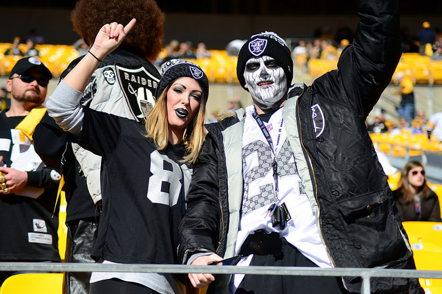 Raiders fans will be in full force on Sunday night. Photo Courtesy: Brook Ward