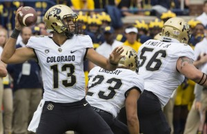 Sefo Liufau and the Colorado Buffaloes are looking to win their first ever PAC-12 championship. Photo Courtesy: MGoBlog