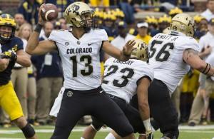 Buffaloes QB Sefo Liufau has the opportunity to take Colorado back to glory. Photo Courtesy: MGOBlog