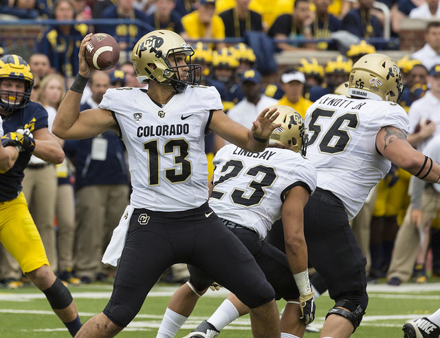 Buffaloes QB Sefo Liufau has the opportunity to take Colorado back to glory. Photo Courtesy: MGOBlog