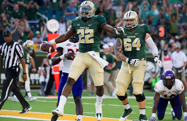 Baylor Bears RB Terrence Williams needs to find to success early to keep the Mountaineer defense honest. Photo Courtesy: Matthew Lynch