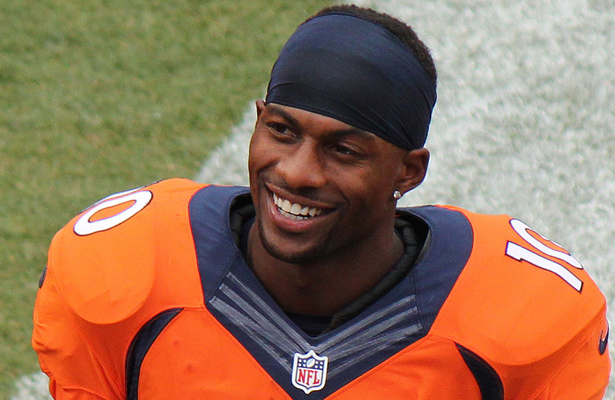 The Denver Broncos will need to be creative in finding ways to get WR Emmanuel Sanders the ball. Photo Courtesy: Jeffrey Beall