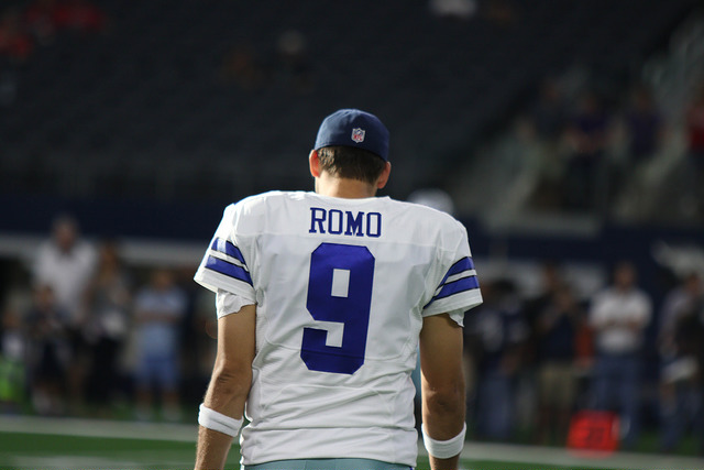 Cowboys QB Tony Romo played against the Eagles in the regular season finale and it might be his last appearance with the team. Photo Courtesy: Michael Kolch