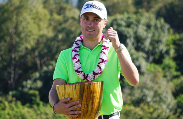 Justin Thomas will try to make it two wins in a row in Hawaii this week at the Sony Open. Photo Courtesy: PGA TOUR Twitter Account